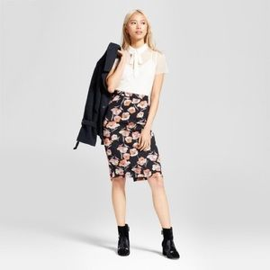 who what wear • floral pencil skirt